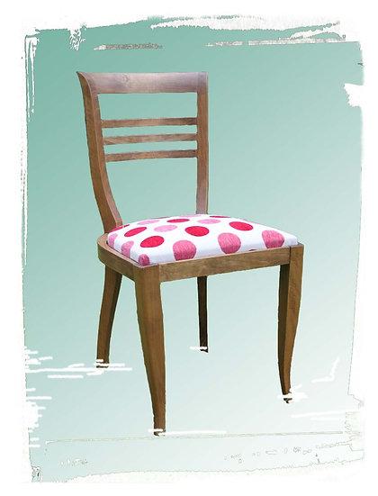 Lot de 4 chaises à pois