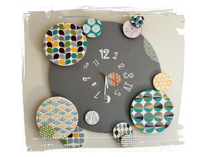 Horloges géante motifs scandinaves