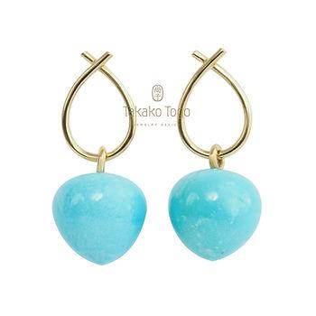 Kvadr hvid Friendship earrings turkis PB