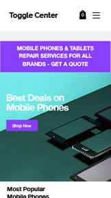 Webshop website templates – Phone & Tablet Store