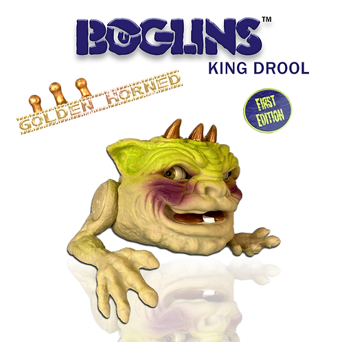 Boglins Gold Horned - King Drool (série limitée)