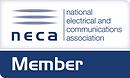 NECA Member logo rectangle Pantone 287.p