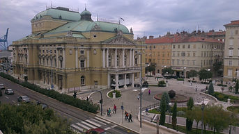 The National Theater of Ivan pl. Zajc in RIjeka, Croatia - visit with rijekatrips.com