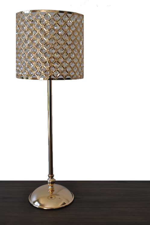 """32"""" Gold Crystal Lamp Centerpiece"""