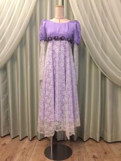 ディズニーのラプンツェルをイメージしたドレス