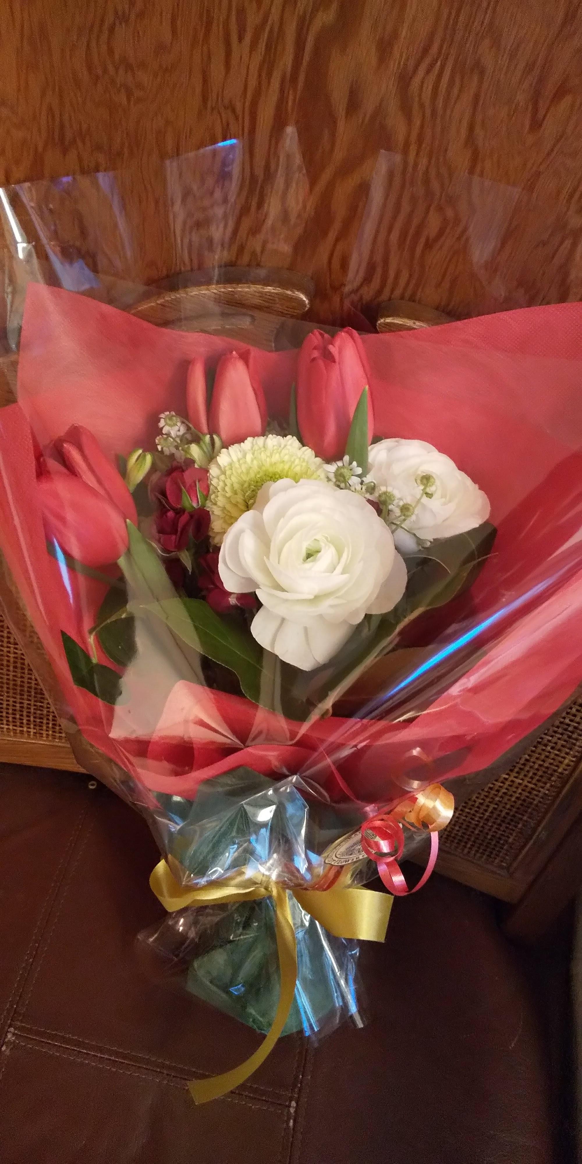 可愛い花束を頂きました