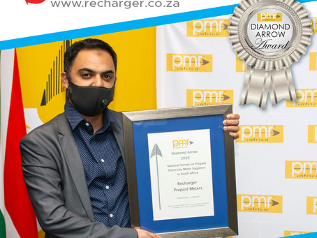Celebrating excellence: Recharger wins prestigious PMR award for its prepaid electricity meters