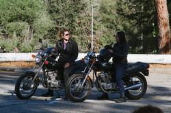 Carmen and Nancy discuss riding.