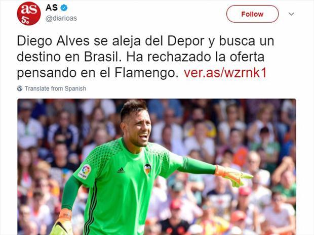 Diego Alves é conhecido por ser um dos melhores pegadores de pênalti do mundo e tem números históricos na Espanha (Getty Images)