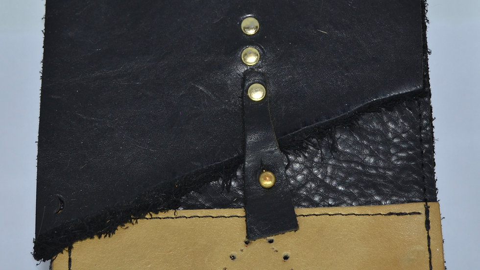Black and Tan Leather Wallet