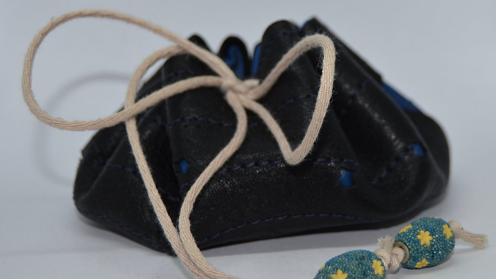 Moon and Stars Leather Pouch