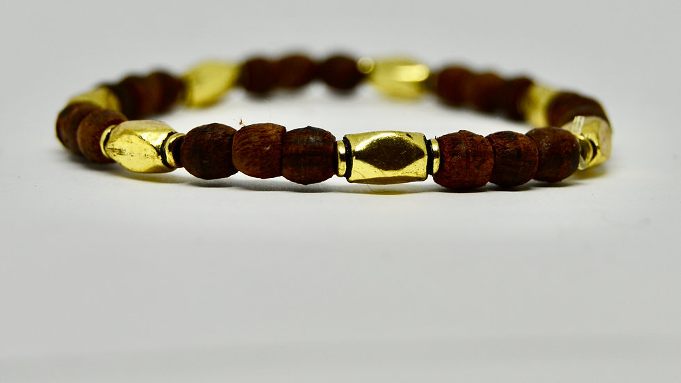 Wooden and Gold Simple Stackers