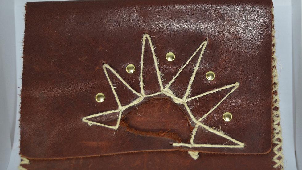 Hemp Sun Leather Wallet or Clutch