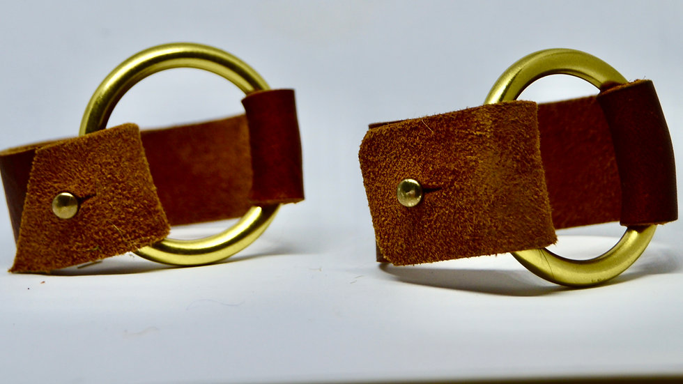 Brass Circle Cuffs