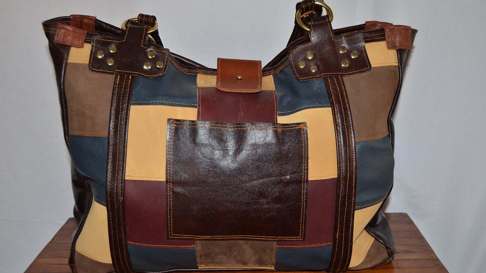 Patch Work Tote Bag