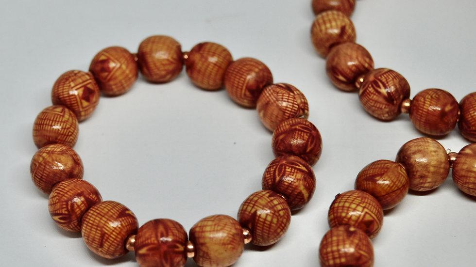Interdimensional Wooden & Copper Bead Bracelets