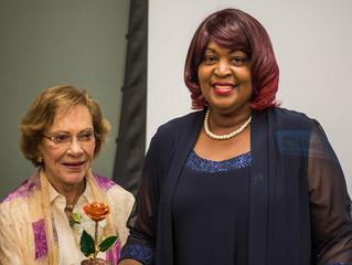 Shelia Smith of Palmetto, GA receives Rosalynn Carter Institute's Georgia Family Caregiver of the Ye