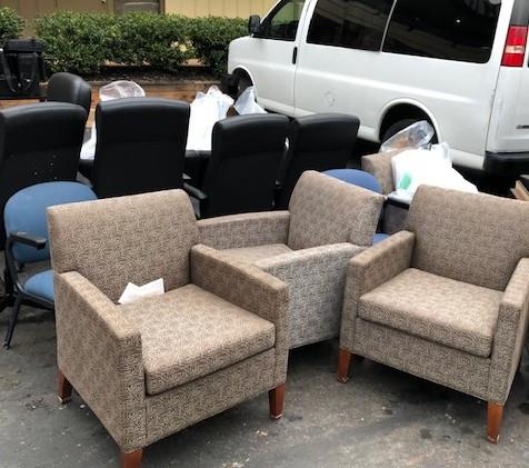 Some of ISDD's smoke damaged furniture