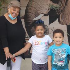 Christina Clomon and grand kids