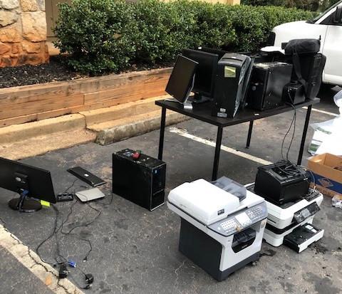 ISDD's water damaged equipment