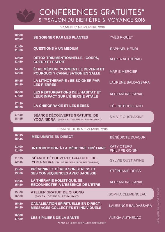 Il s'agit de ma 4e participation au Salon Bien-Etre et Voyance au Domaine de la Terrasse à Carbonne, un lieu que j'affectionne particulièrement. J'y tiendrai un stand de consultations de voyance, et je vous propose également une conférence samedi 17 novembre à 11h. L'entrée au salon et aux conférences sont gratuites !