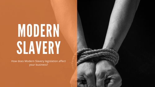 Modern Slavery Legislation. A global problem now also a reputational risk for Australian businesses.