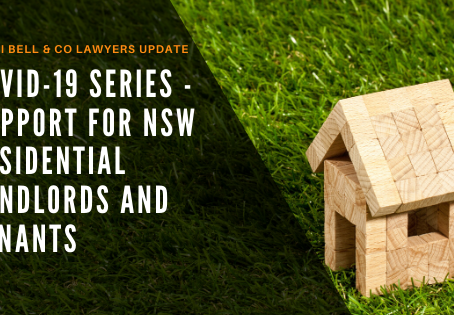 Covid-19 Series - Rental Support for NSW Residential Landlords and Tenants