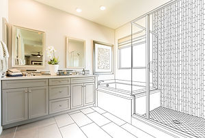 Custom Master Bathroom Design Drawing Gr