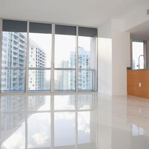photo de la vue d'un appartement en centre ville