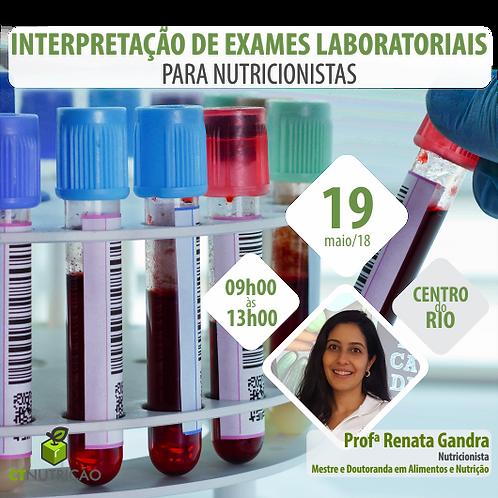 Interpretação de Exames Laboratoriais Para Nutricionistas - 3º Lote