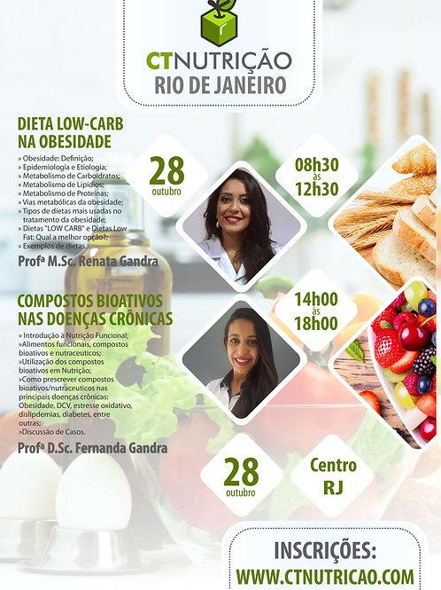 Pacote de 2 Cursos RJ: Dieta Low-Carb + Compostos Bioativos nas Doenças Cr.