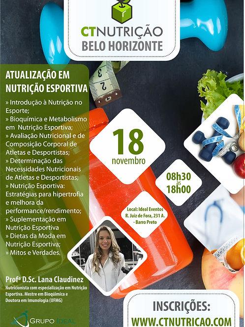 Atualização em Nutrição Esportiva - Profª D.Sc. Lana Claudinez