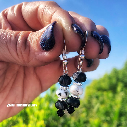 At Midnight {White Buffalo} earrings