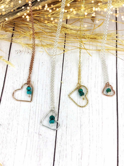 Always in My Heart {Rose Gold & Gold or Silver & turquoise}