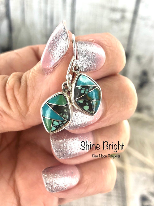 SHINE BRIGHT {BLUE MOON} turquosie earrings