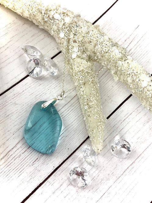 Aqua Glass Necklacee