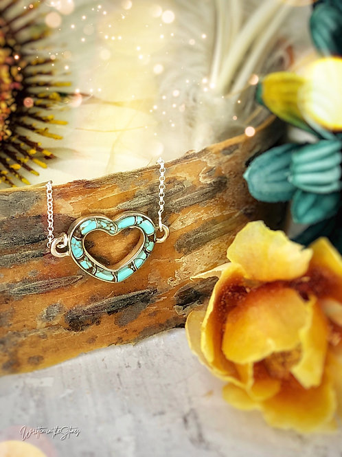 Open Heart {turquoise} Necklace