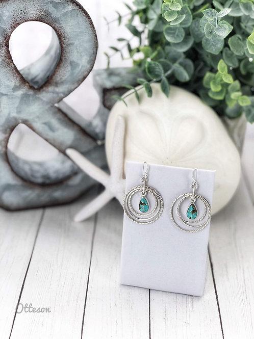 Solar Serenity {Sierra Nevada} turquoise Earrings
