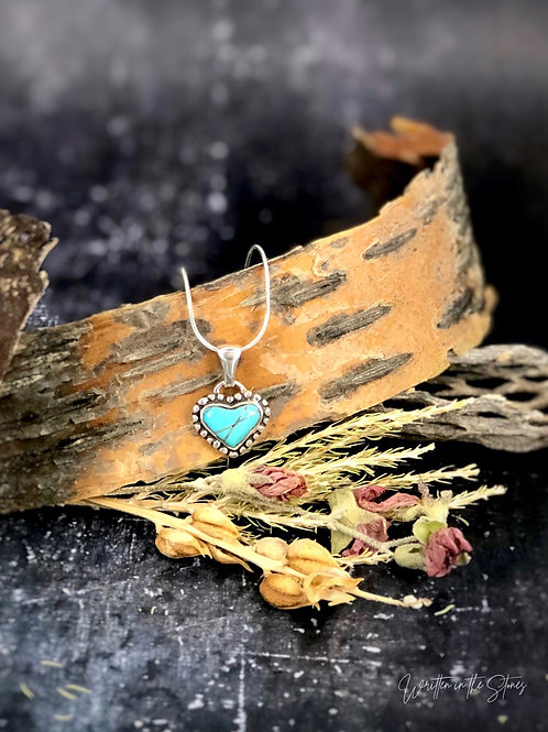 Heart & Soul {blue moon turquoise} necklace