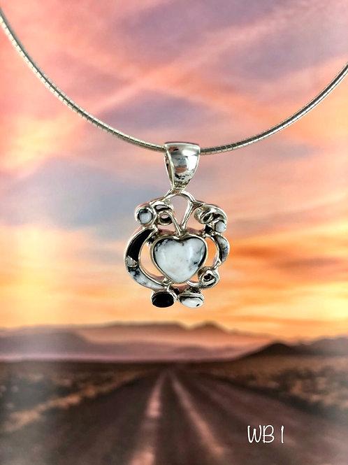 Hearts Gone Wild {White Buffalo} pendant