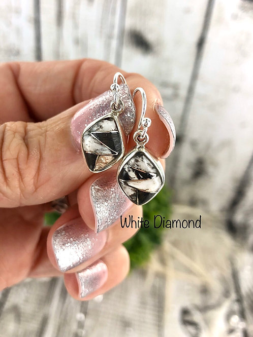White Diamond {White Buffalo} earrings