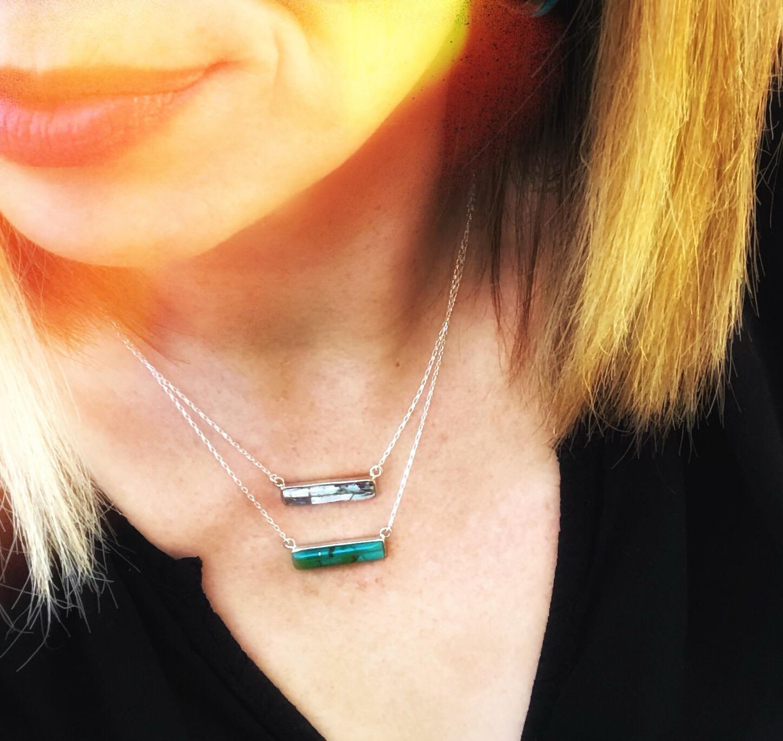 Nuovi Inizi :New Beginnings {bar necklace} turquoise
