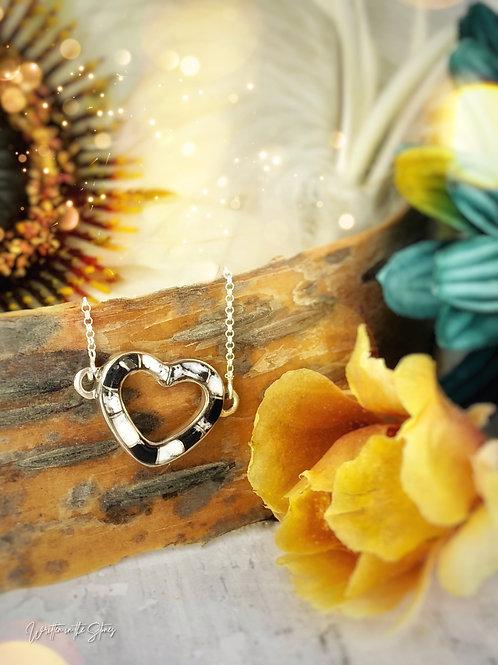 Open Heart {white buffalo} Necklace