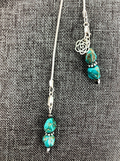 Dream Catcher Adjustable Necklace with Sierra Nevada Turquoise