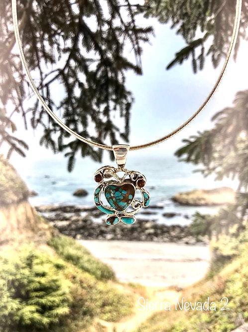 Hearts Gone Wild {turquoise}  pendant