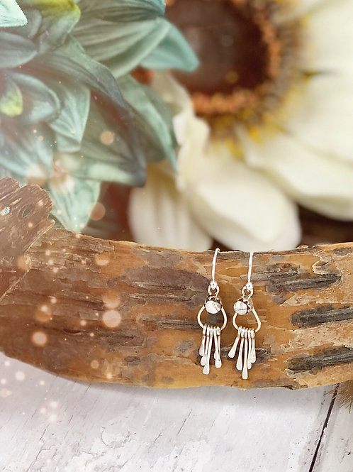 On the Fringe {White Buffalo} earrings