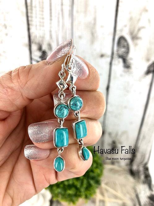 Havasu Falls {Blue Moon turquoise} earrings