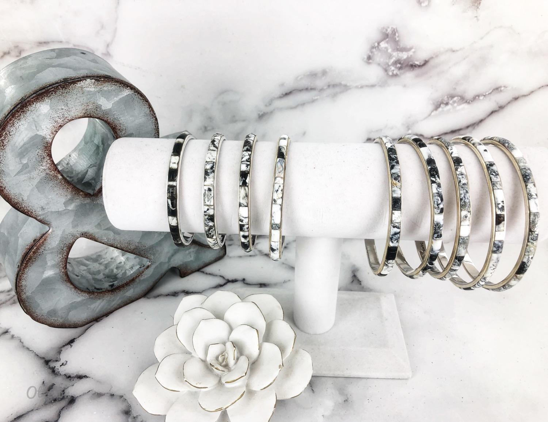 White Buffalo Bangle Bracelet