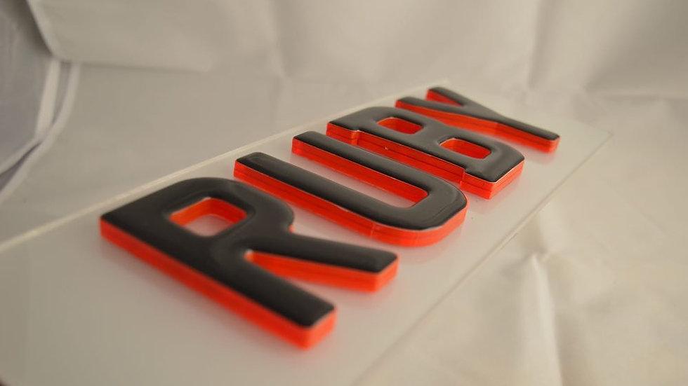 3D RED KRYSTAL PLATES