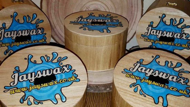 Jayswax limited edition wooden pot chocolate orange ceramic